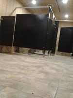Installation of Global black phenolic toilet partitions